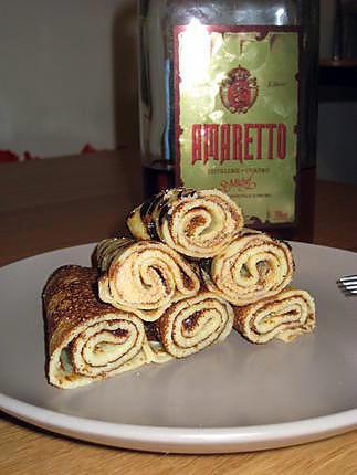 recette Crêpes à l'Amaretto,Mmmm!!