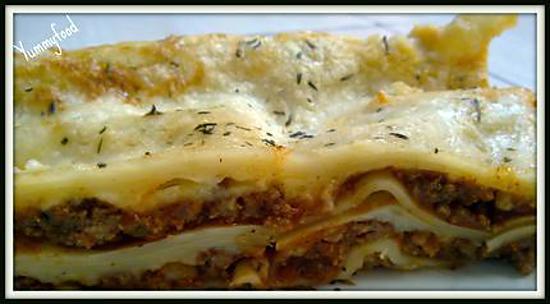 recette Lasagne bolognaise aux 3 fromages