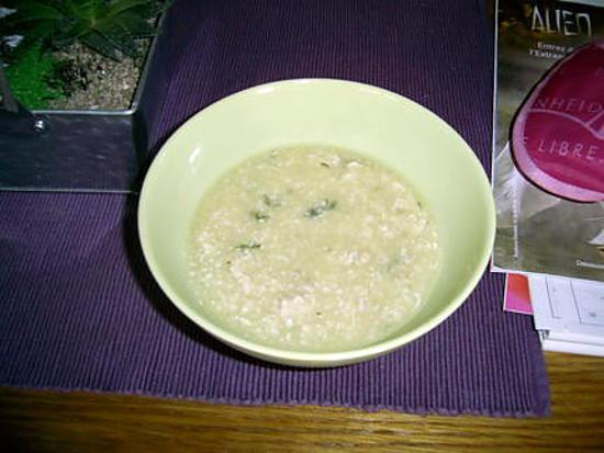 recette Soupe de courgette -poulet. minceur ou version dudu