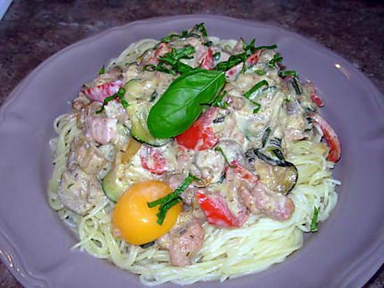 recette Carbonara aux légumes d'été !!