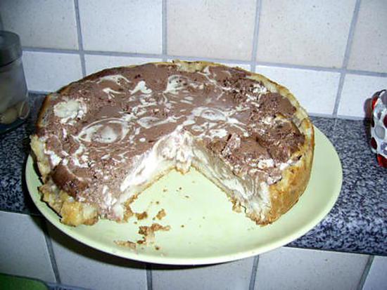 """recette Gâteau marbré au fromage blanc """" minceur """""""
