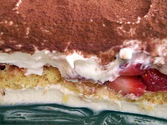 Cheese cake gateau au fromage sans cuisson - Tiramisu fraise sans mascarpone ...