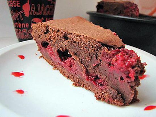 recette de gateau chocolat framboise
