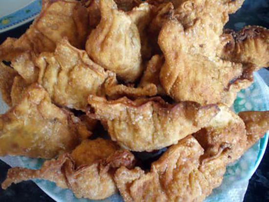 recette raviolis de poulet frits