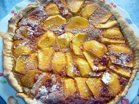 recette Tarte aux pommes flamande (avec pâte sucrée)