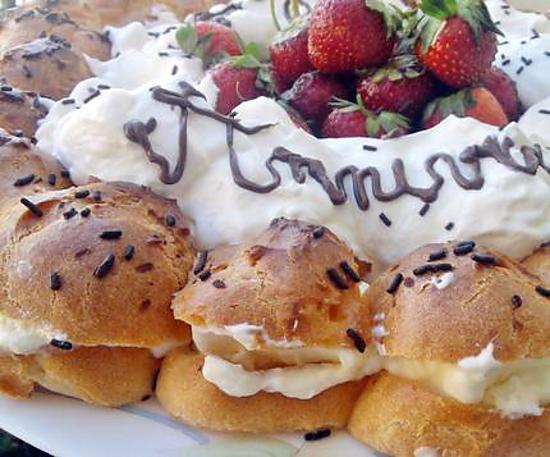 recette Paris brest à la créme de mascarpone citroné et fraises