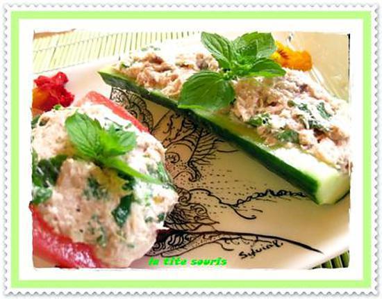 recette Légumes farcis à la mousse de thon et à la menthe fraiche