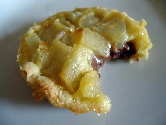 recette Tartelette irrésistible poire / pralinoise
