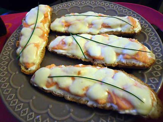 recette Tartine de la mer