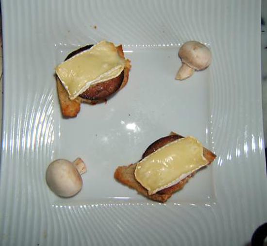 recette tartine d'andouille au camenbert