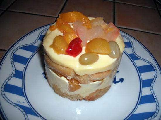 recette de gâteau italien à la salade de fruits