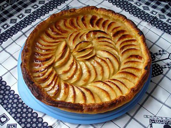 recette de tarte aux pommes et cannelle par reva. Black Bedroom Furniture Sets. Home Design Ideas