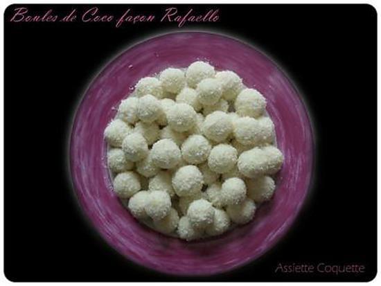 recette Boules de coco façon rafaello