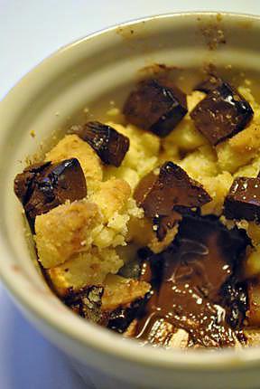 recette Crumble aux pommes et coeur fondant au chocolat noir