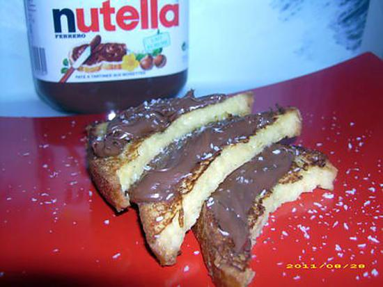 recette de pain perdu au nutella. Black Bedroom Furniture Sets. Home Design Ideas