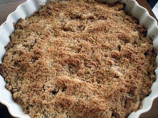 recette Crumble pommes-poire