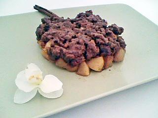 recette Crumble de speculos aux pommes tatin au caramel de beurre salé