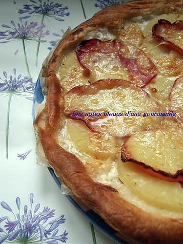 recette Tarte à l'ananas, bacon et comté