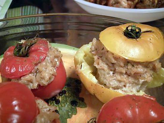 recette Tomates farcies au risotto
