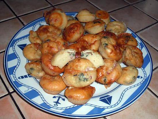 recette Muffins aux lardons et au chèvre