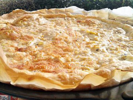 recette Flamenkuch aux saumon poireaux