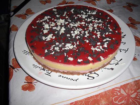 recette Bavarois fraise chocolat blanc
