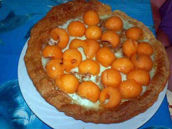 recette tarte mousseuse au melon et a la menthe