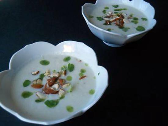 recette Ajo blanco de fenouil, amandes et huile d'origan