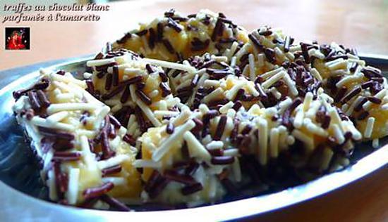 recette Truffes au chocolat blanc Parfumée à l'amaratto