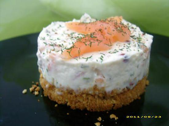 Recette de cheescake au saumon fum for Entree original et simple