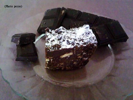 recette Cake chocolat biscuit (sans cuisson)