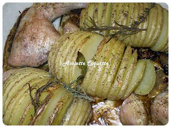 recette Pomme de terre suédoise ou Pomme de terre éventail