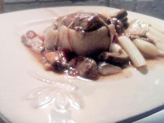 """recette Paupiette de veau sauce provençale aux cépes """"ramasser le matin meme par mr gourmand et mon beau pére"""""""