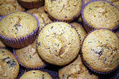recette Muffins à la courge Butternut et aux éclats de chocolat noir
