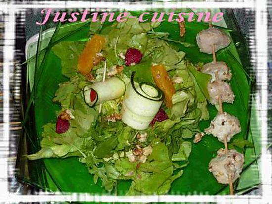 recette Salade sucrée/salée