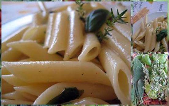 recette Penne sauce aux herbes aromatiques
