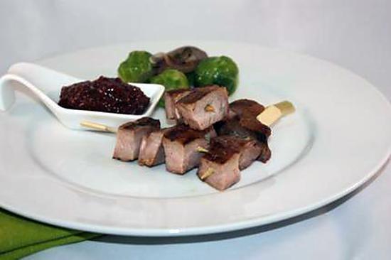 recette Brochette de sanglier mariné