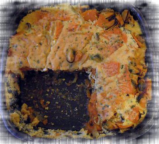 recette Gratin au tofu soyeux DUKAN de cari de potiron & moules au wakamé