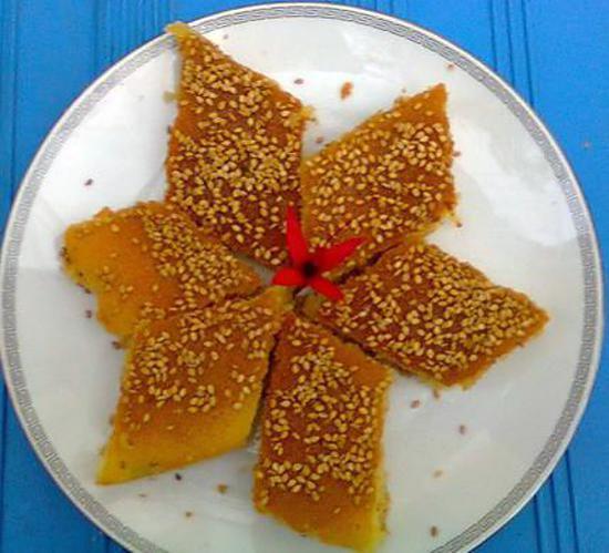 recette BASSBOUSSA A LA SEMOULE (cake)