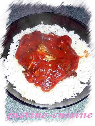 recette Champignons de paris au chorizo et sauce tomate