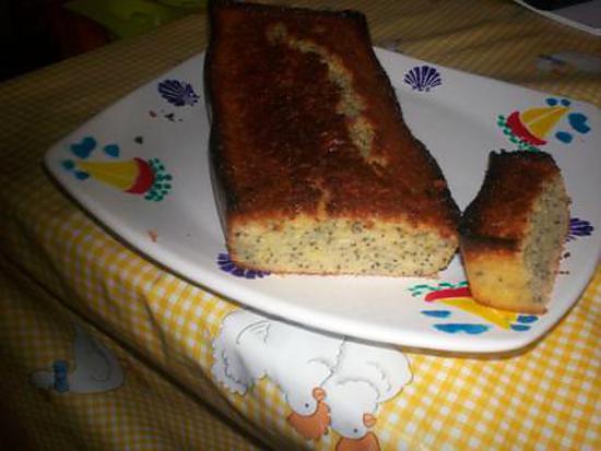 recette cake aux citron et graines de pavot