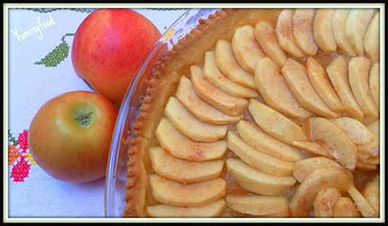 recette de tarte aux pommes p te bris e de christophe felder. Black Bedroom Furniture Sets. Home Design Ideas