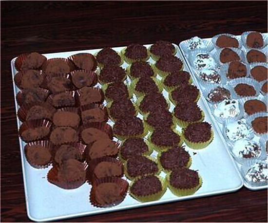 recette Truffes au chocolat (Femina nø 48 - 26.11.2000)
