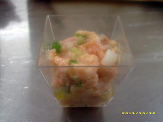 recette tartare de saumon en verrine (réception)