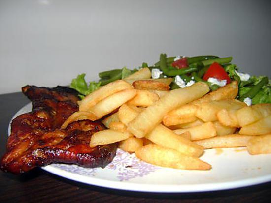 recette Tranches de lard à la sauce BBQ