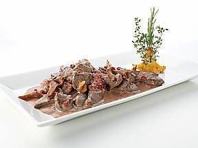 recette Emincé de chevreuil aux chanterelles et aux canneberges