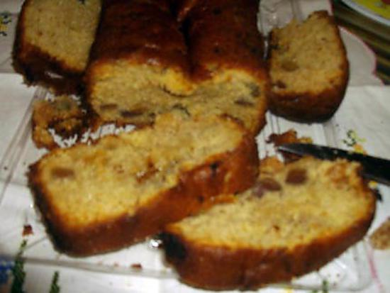 recette Cake aux fruits confits et raisins secs.