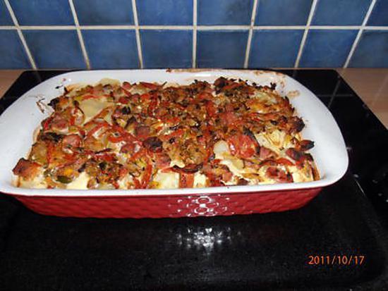 Recette de gratin de pommes de terre au jambon - Gratin de pomme de terre jambon ...