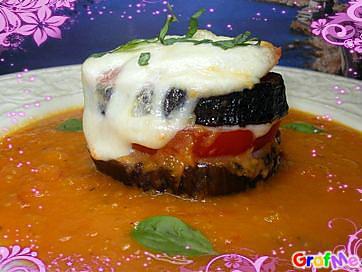 recette aubergines grillées,tomates et mozzarella