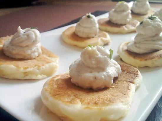 recette Blinis à la mousse de jambon et boursin